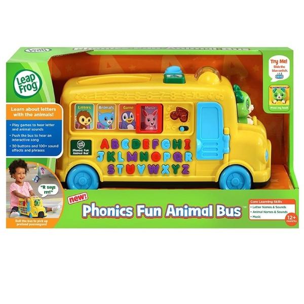 美國 跳跳蛙 LeapFrog 動物字母發音小巴士 全英幼兒學習玩具 1300 好娃娃