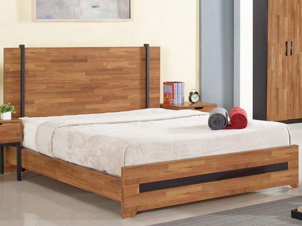 床架 床台 SB-023-1 亞瑟5尺柚木集層雙人床 (不含床墊) 【大眾家居舘】