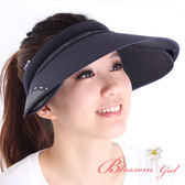 Blossom Gal 韓系運動風玩美防曬大遮陽帽(深藍)