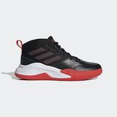 J-adidas Own The Game Wide 黑 紅 女鞋 大童鞋 寬楦 運動鞋 籃球鞋 EF0309