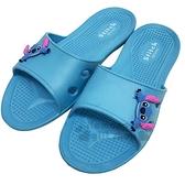 〔小禮堂〕迪士尼 史迪奇 極輕防滑塑膠拖鞋《藍.大臉》室內拖鞋.浴室拖鞋_713052-38970