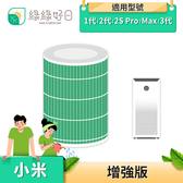 綠綠好日 綠色除甲醛增強版 小米空氣清淨機副廠濾心 適用小米1代、2代、PRO