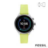 FOSSIL SPORT 運動智能錶-41MM 螢光綠矽膠 FTW6028