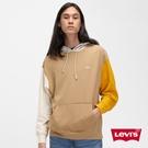 Levis 男款 重磅口袋帽T / 大地色系拼接 / 質感Serif Logo刺繡 / 305GSM厚棉