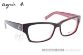 『金橘眼鏡』agnes b.眼鏡 原廠正品#ABP212 W10黑紅  (全館免運費)