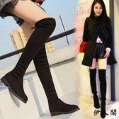 過膝靴長靴女靴子高筒馬靴長筒平底