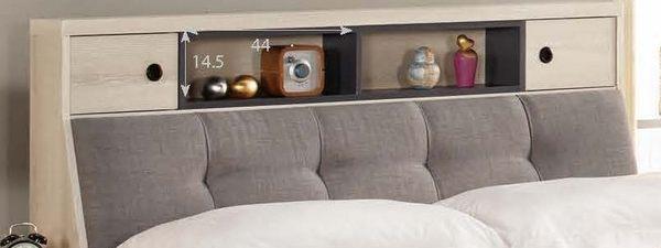 【森可家居】優娜6尺被櫥式雙人床(置物床頭+三抽床底)(不含床墊) 7CM061-1 雙人加大