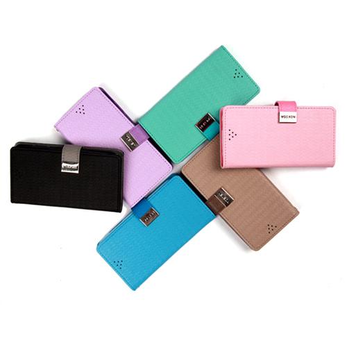 NEKEDA Samsung Galaxy S4 I9500 粉彩格紋側翻保護皮套