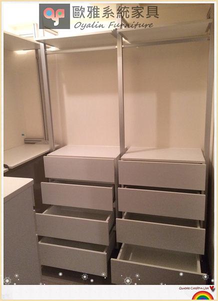 【歐雅系統家具】系統家具/ EGGER / 防潮塑合板 開放式衣櫃 特價 : 52913