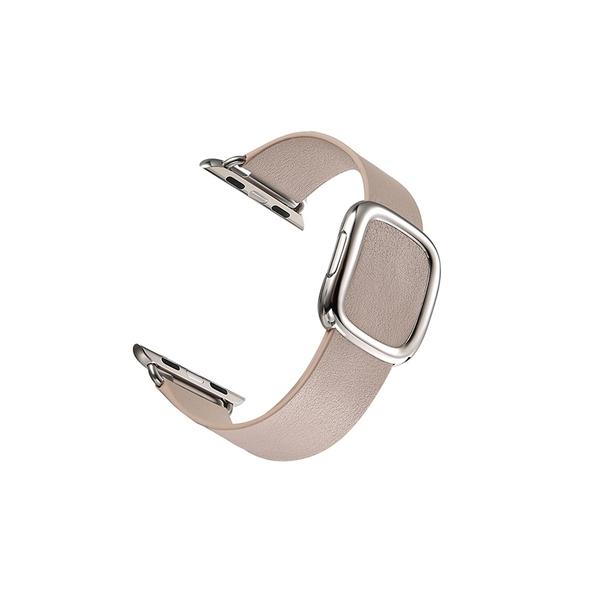 現代風 磁吸扣 牛皮錶帶 Apple watch 38/40通用 42/44通用 蘋果 皮革錶帶 簡約 時尚皮質手錶帶