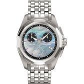 [結帳再折] TISSOT 天梭 絢爛三眼女錶-35mm/銀x珍珠貝/T0082171112100