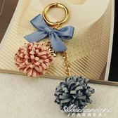 布藝花朵雙色女士包包配飾掛件鑰匙扣創意生日禮物 黛尼時尚精品