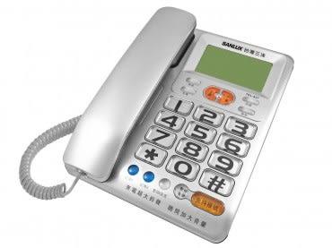 台灣三洋聽筒增音來電超大鈴聲有線電話機TEL-837 混色