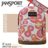 JANSPORT後背包包帆布包15吋筆電包大容量JS-43971-02V百日菊