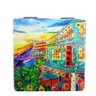 【收藏天地】台灣紀念品*雙面隨身鏡-阿妹茶樓∕小物 送禮 文創 風景 觀光  禮品