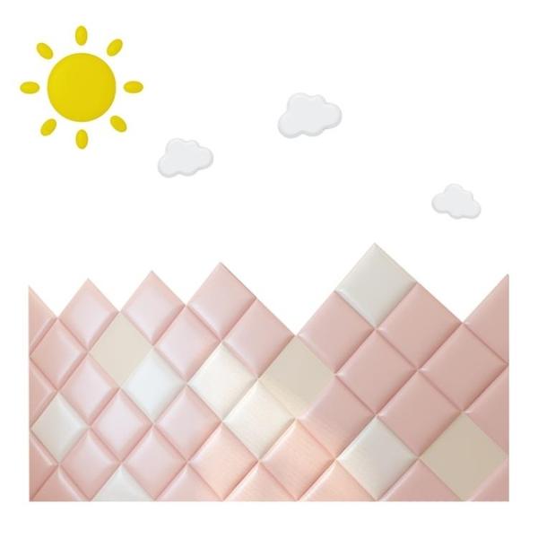 兒童房防撞軟包牆貼自黏榻榻米床頭板背景牆幼兒園防護牆圍貼牆墊 露露日記