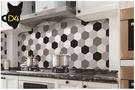 【六角形壁紙】歐洲六邊形藝術牆紙 自黏裝飾壁貼 仿瓷磚貼紙 耐高溫防水防油 仿磁磚牆貼