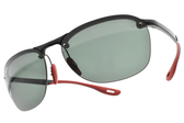 RayBan偏光太陽眼鏡RB4302M F60171 (黑紅-綠鏡片) 法拉利聯名車隊款 # 金橘眼鏡