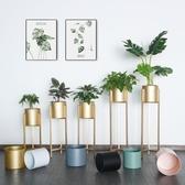 鐵藝花架客廳室內落地式金屬花盆栽架【聚寶屋】