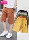男童短褲 男童短褲工裝褲新款潮夏季薄款外穿五分褲子兒童休閒寶寶中褲 韓菲兒