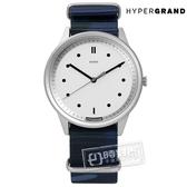 HyperGrand / NW02HGXW-NC / wisdom x HYPERGRAND聯名款迷彩印花尼龍手錶 白x深藍 40mm