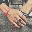 現貨 美國潮牌勵志I PROMISE運動矽膠手環詹姆斯同款腕帶手圈情侶手鏈 型男配件 造型飾品 手鏈
