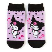 〔小禮堂〕酷洛米 成人及踝襪《紫黑.眨眼》腳長23-25cm.短襪.棉襪 4901610-19951