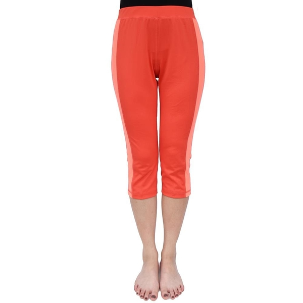 【南紡購物中心】【Vital Salveo 紗比優】女運動休閒六分褲-贈女寬口襪1雙(藍紫 /桔紅)