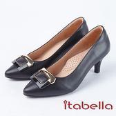 ★2018春夏新品★itabella.極緻優雅羊皮尖頭高跟鞋(8228-91黑)