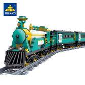 樂高積木電動軌道火車玩具城市繫列和諧號天際拼裝高鐵男孩子 igo摩可美家