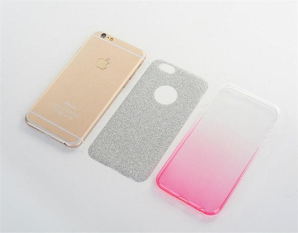 King*Shop---閃粉漸變華碩Zenfone3手機殼 ZS570KL 保護套   薄軟殼