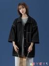 短袖外套工裝襯衫女夏季法式休閒襯衣設計感小眾外套2021年新款慵懶風短袖 愛丫