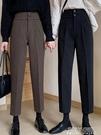 加厚毛呢西裝褲新款韓版寬鬆直筒九分褲高腰顯瘦休閒褲女 夏季狂歡