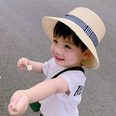 男童夏天沙灘帽男孩草帽女童遮陽帽寶寶太陽帽禮帽兒童防曬涼帽潮『摩登大道』