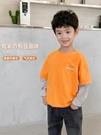 男童上衣 童裝男童假兩件長袖T恤洋氣兒童純棉打底衫 2021新款秋裝韓版上衣【快速出貨八折鉅惠】