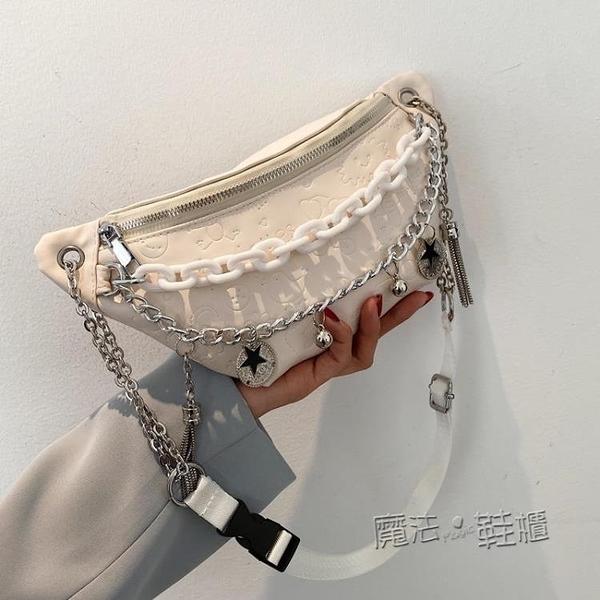 時尚夏季洋氣小包包女新款潮百搭網紅腰包胸包質感側背斜背包 618促銷
