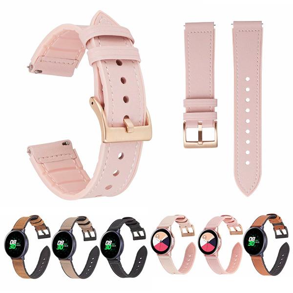 三星 Galaxy Watch Active 錶帶 穿戴裝置配件 皮紋矽膠錶帶 手錶錶帶 三星錶帶
