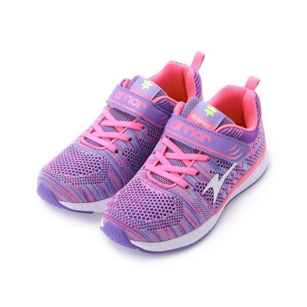 ARNOR 超輕緩震氣墊慢跑鞋 紫 ARKR78017 大童鞋 鞋全家福