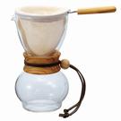 金時代書香咖啡 HARIO 濾布橄欖木手沖咖啡壺1~2杯 DPW-1-OV