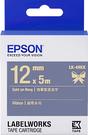 LK-4HKK EPSON 緞帶系列海軍藍底金字標籤帶(寬度12mm) C53S654429