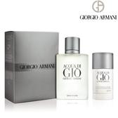 Giorgio Armani 亞曼尼 寄情水男香禮盒(淡香水100ml+體香膏75g) 【SP嚴選家】