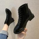 短靴 2020秋冬季新款帥氣黑色機車馬丁靴女英倫風復古百搭低跟靴子 店慶降價