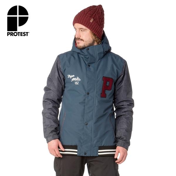 PROTEST 男 機能防水保暖外套 (海軍藍) WIGAN SNOWJACKET