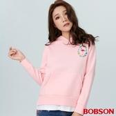 BOBSON 女款繡花假兩件式上衣(38071-09)