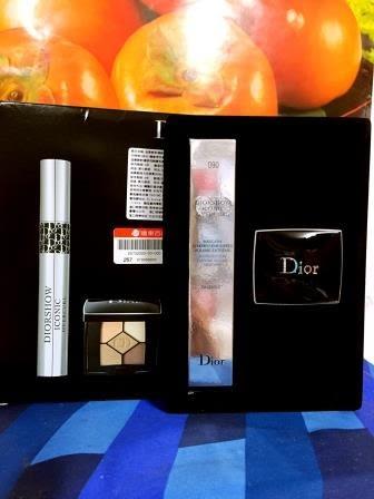 Dior迪奧絕對搶眼組(內含: 絕對搶眼飛翹睫毛膏#090(正品)+經典五色眼影#646(精巧版)百貨公司標籤