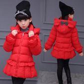 女童棉衣兒童棉襖冬裝寶寶羽絨棉服加厚小女孩中長款外套 優樂居