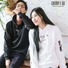 Cherry e購【KL1522】潮男/情侶,HEALTH拉鍊設計刷毛連帽長T_特價299