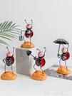 創意可愛ins小擺件物件動物擺設 兒童房間家居書桌酒櫃桌面裝飾品 元旦狂歡購