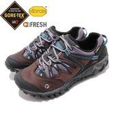 Merrell 戶外鞋 Allout Blaze 運動 Gore-Tex 防水 透氣 越野 灰藍 紫 休閒鞋 女鞋【PUMP306】 ML21310