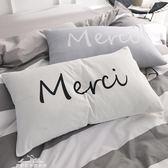 北歐簡約風全棉枕套學生成人斜紋純棉單人枕頭套一對裝『夢娜麗莎精品館』